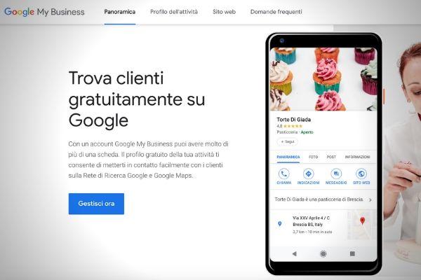 trova clienti con google my business